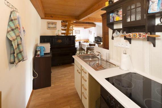 Apartmán V podkroví - kuchyňský kout