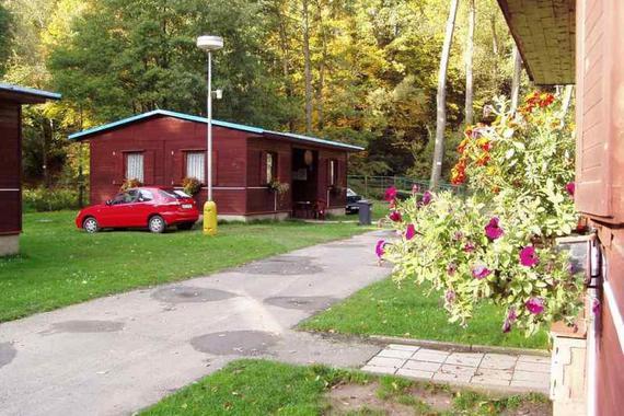 poslední chata po levé straně