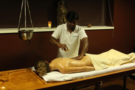 Ájurvédská masáž.