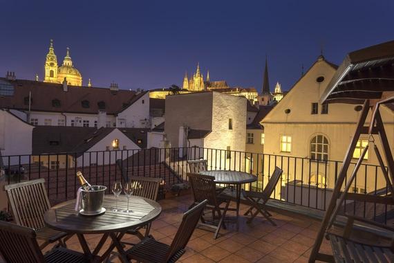 Hotel Pod Vezi - terasa s výhledem