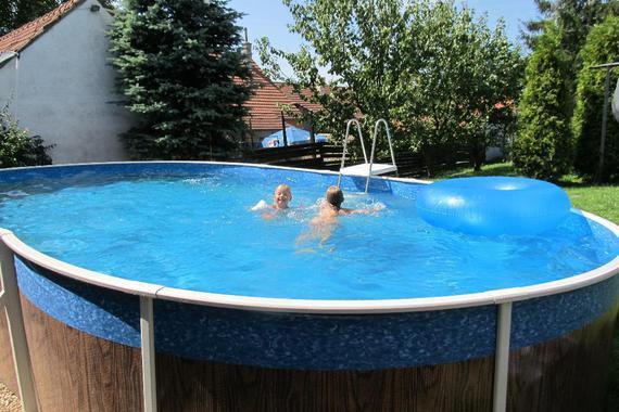 Mohelno 499, nový bazén , 3,5 x 7,5m s přihříváním