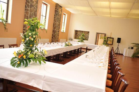 sál pro pořádání kongresů, zasedání, teambulldingů, narozeninových oslav, promocí, svatebních hostin
