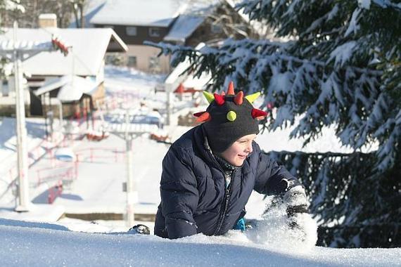 Sněhové radovánky u DOBRÉ CHATY