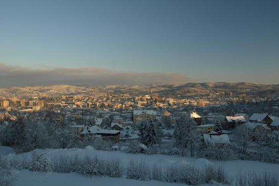 výhled na město a Jizerské hory