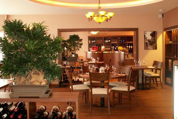 Vnitřní interiér restaurace