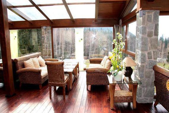 Zimní zahrada-součást restaurace.