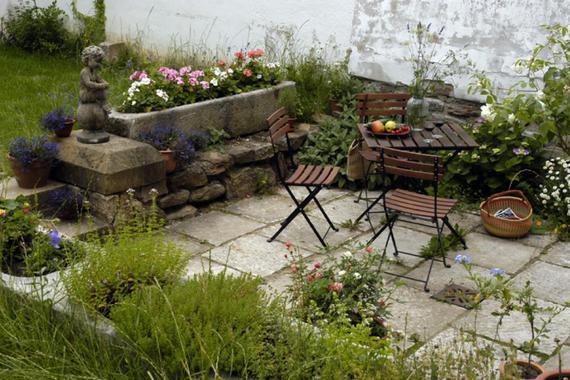 terasa v zahradě