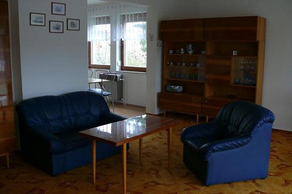 apartmám obývací pokoj v patře