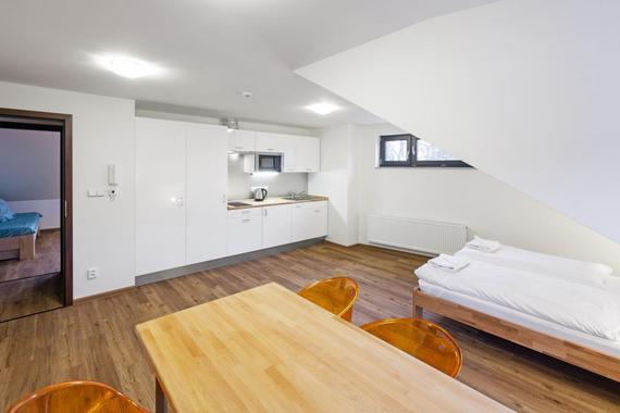 Apartmán s kuchyňským koutem
