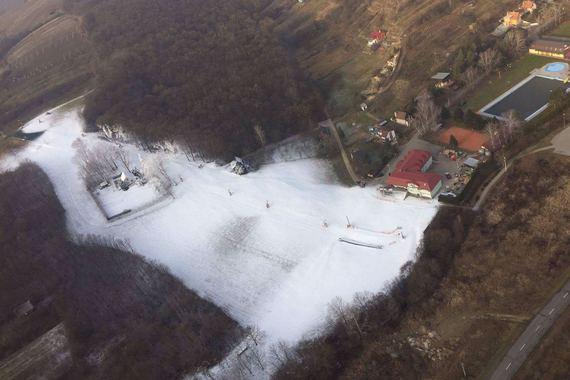 Letecký pohled v zimě