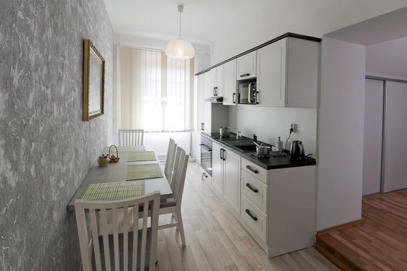 Kuchyň v apartmánu 1