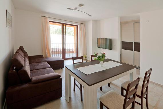 Obývací část (stejné v apartmánech 3,4 a 5)
