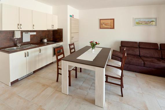 Kuchyň (stejné v apartmánech 3,4 a 5)