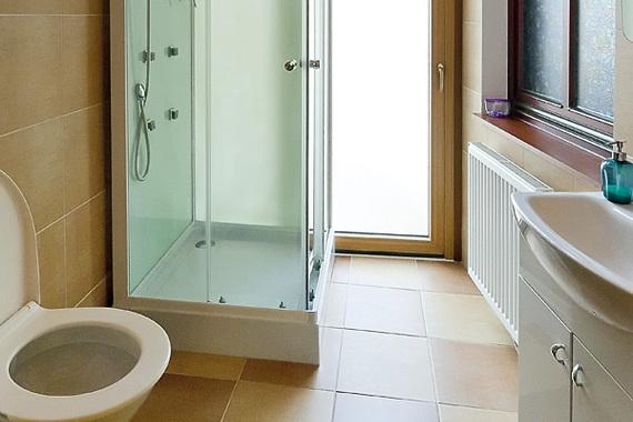 Sprchový kout a WC - apartmán 2