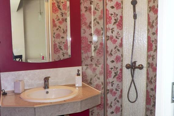 Romantický pokoj koupelna