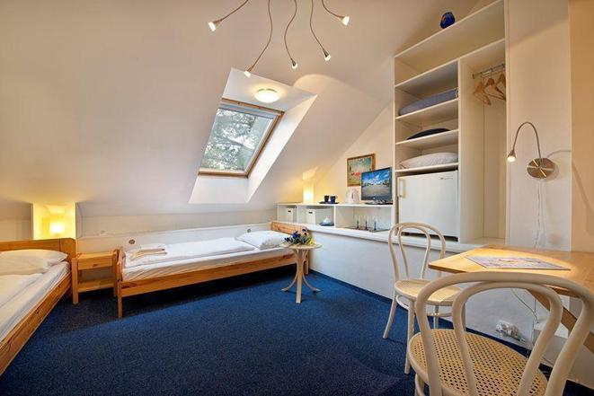 Dvoulůžkový pokoj - oddělené postele, možnost přistýlky, koupelna se sprchou a WC