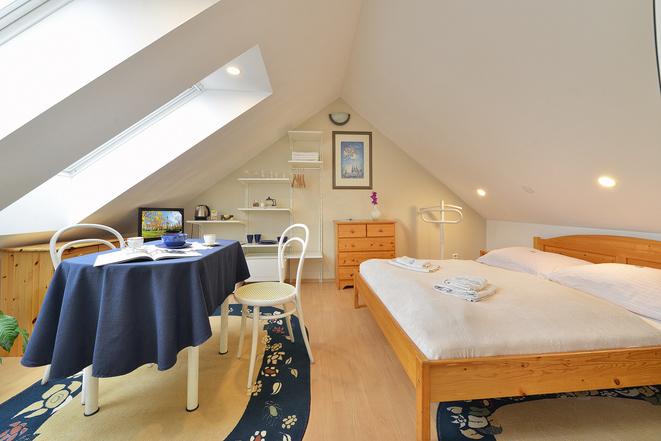 Apartmán podkroví ložnice