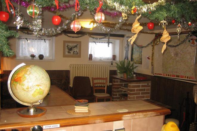 Salonek s krbem-vánoce pENZION KUNC I