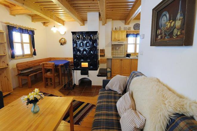 obývací pokoj s kuchyní (chalupa)