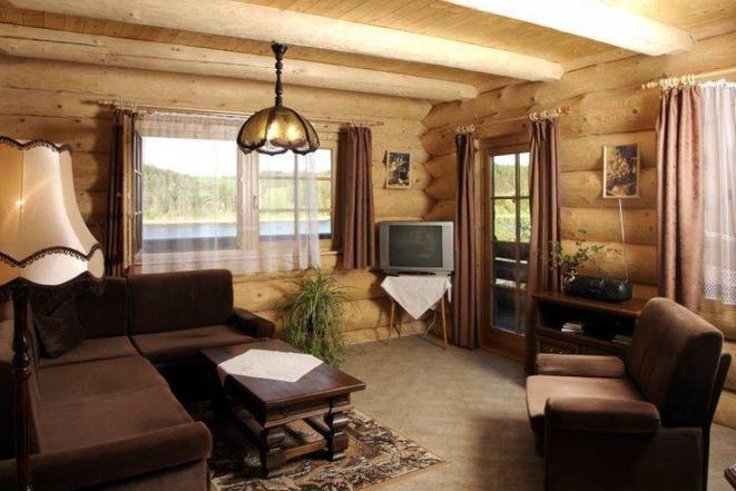 Kanadský srub Ontario - obývací pokoj
