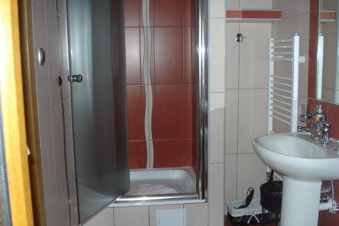 Dvoulůžkový pokoj-koupelna-sprcha
