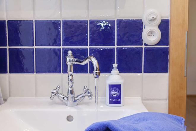 Modrý pokoj - koupelna